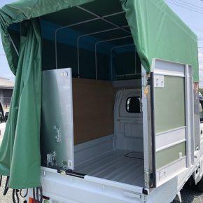 【 軽トラリース 】軽運送・宅配・営業車・幌 キャリートラック s c6 1 290x290